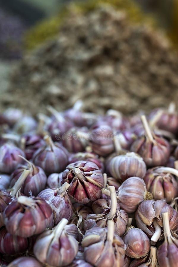 新鲜水果蔬菜 garlics 图库摄影