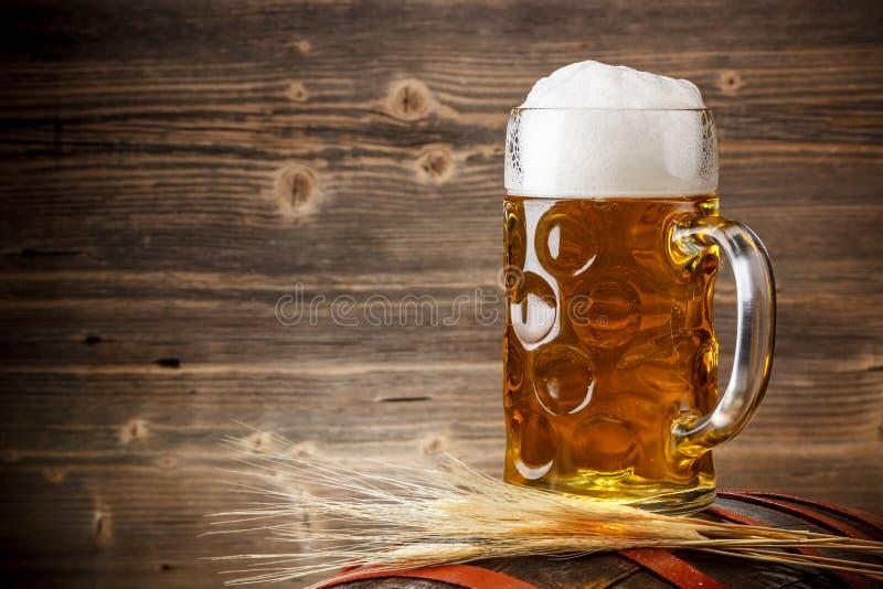 新鲜的低度黄啤酒 免版税库存图片