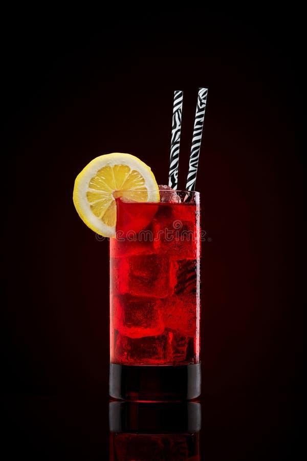 新鲜的冷却的樱桃汁 库存图片