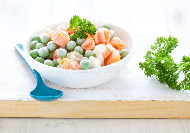 新鲜的冻结的混杂的蔬菜 库存图片