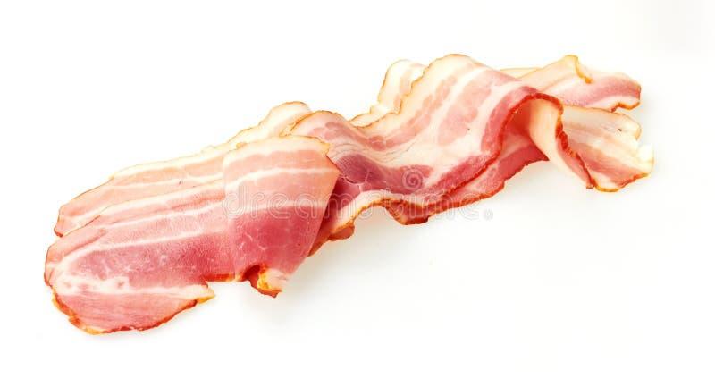 新鲜的切的猪肉烟肉 免版税库存图片