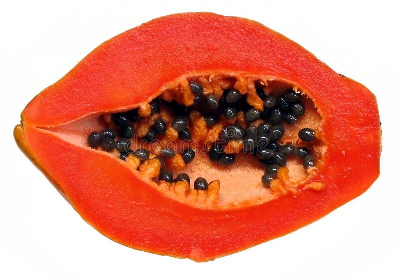 新鲜的半番木瓜 免版税库存照片