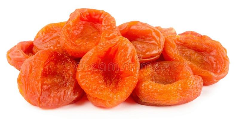 新鲜的在白色背景隔绝的维生素杏干 免版税库存图片