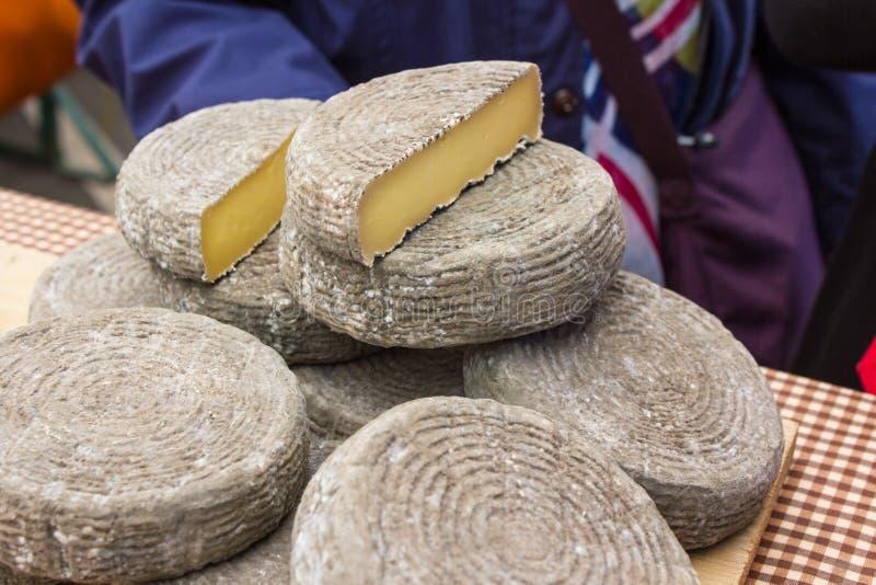 新鲜的工匠乳酪 库存照片