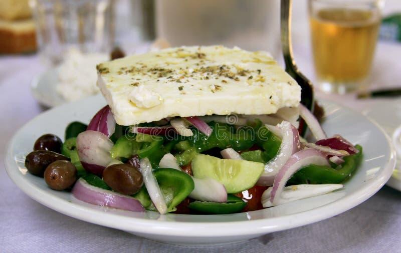 新鲜的希腊沙拉 库存照片