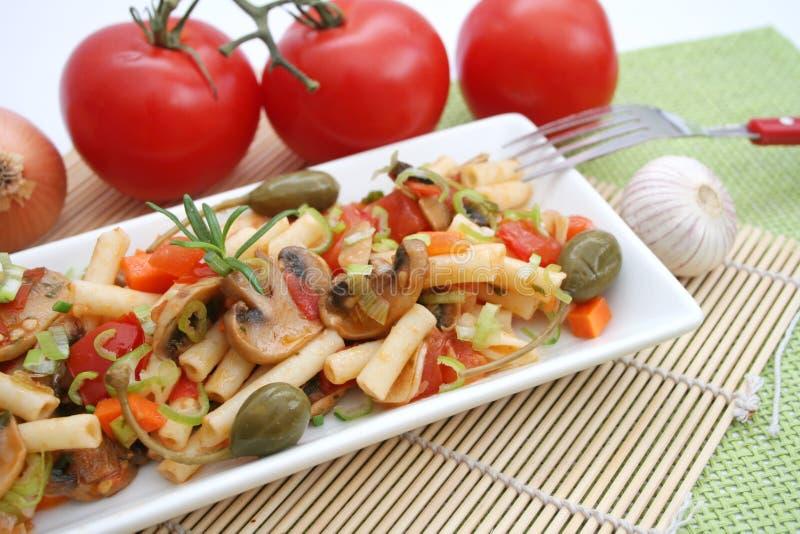 新鲜的意大利意大利面食 免版税库存图片