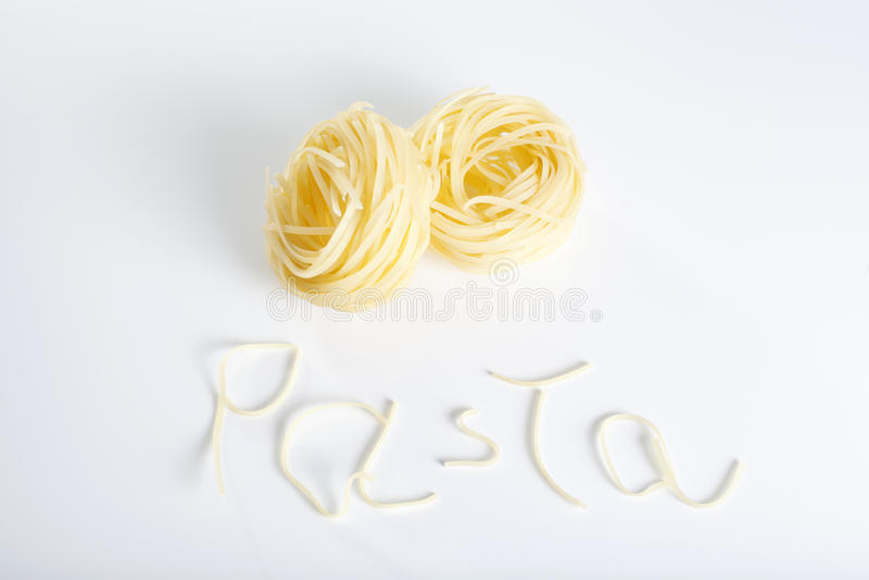新鲜的意大利面食 库存照片