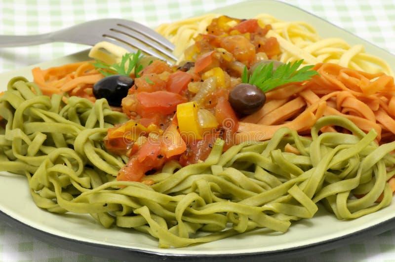 新鲜的意大利面食 库存图片