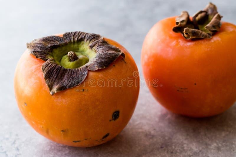 新鲜的成熟柿子结果实立即可食 图库摄影