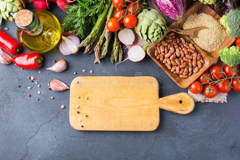 新鲜的有机农夫菜的分类 免版税图库摄影