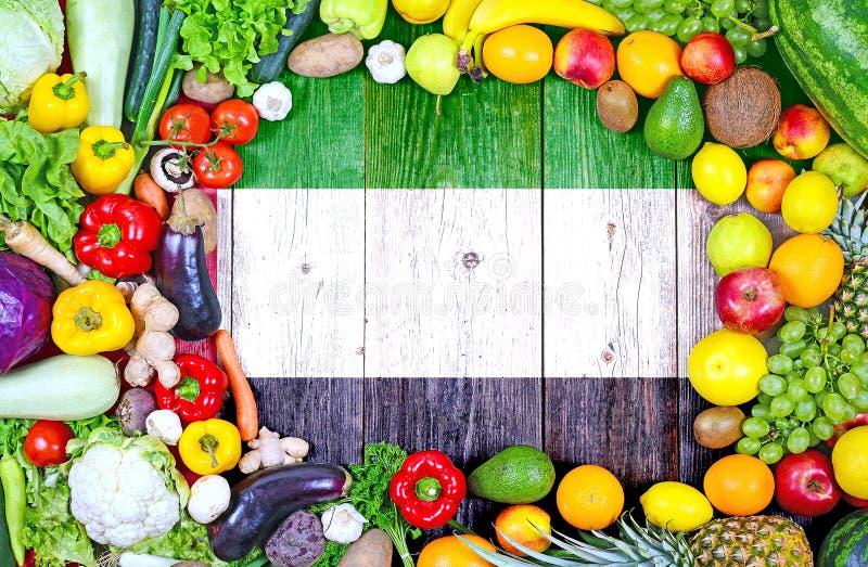 新鲜的水果和蔬菜从阿拉伯联合酋长国 库存照片