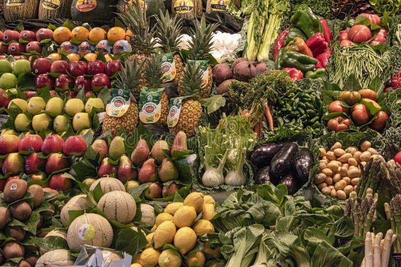 新鲜的水果和蔬菜 库存照片