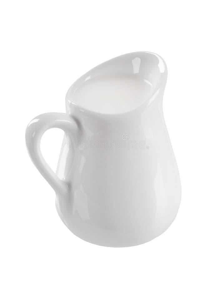 新鲜的水罐牛奶 免版税库存图片