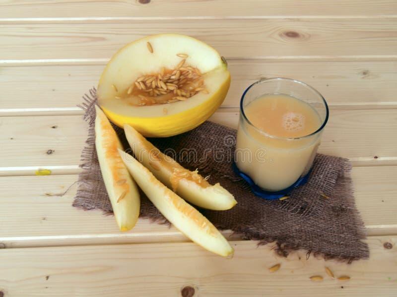 新鲜的汁液和瓜 库存图片