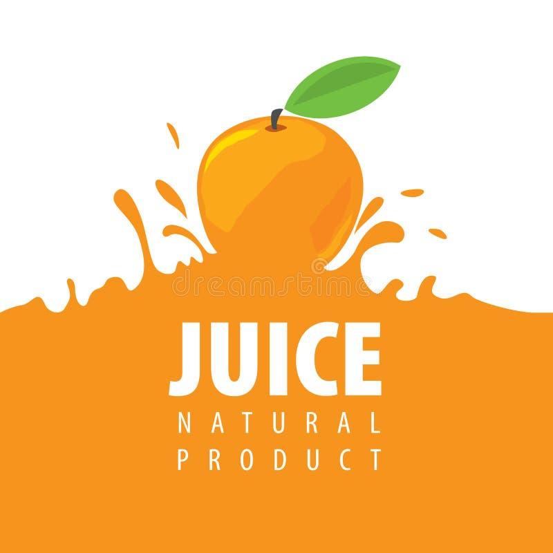 新鲜的汁液商标  向量例证