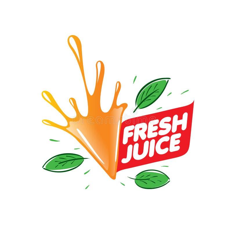 新鲜的汁液的商标 背景例证鲨鱼向量白色 库存例证