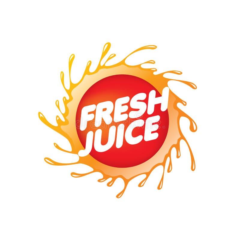 新鲜的汁液的商标 背景例证鲨鱼向量白色 向量例证