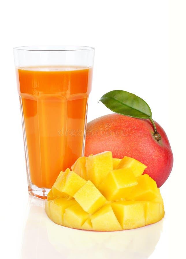 新鲜的汁液芒果 免版税库存图片