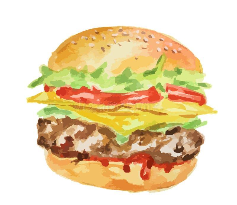 新鲜的汉堡包 向量例证