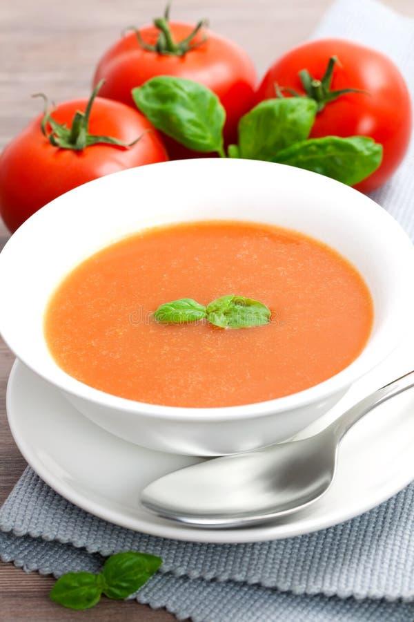 新鲜的汤蕃茄 图库摄影