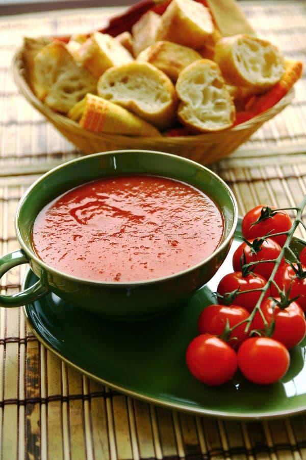 新鲜的汤蕃茄 免版税图库摄影