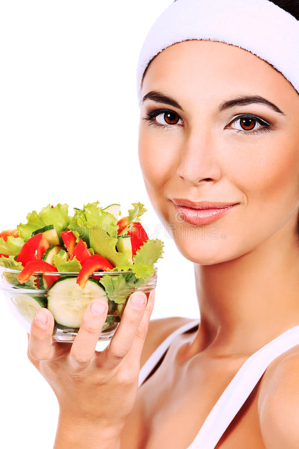 Download 新鲜的沙拉 库存照片. 图片 包括有 关心, 厨师, beautifuler, 莴苣, 健康, 女孩, beauvoir - 22355660