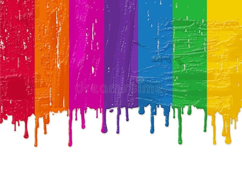 新鲜的油漆彩虹 库存例证