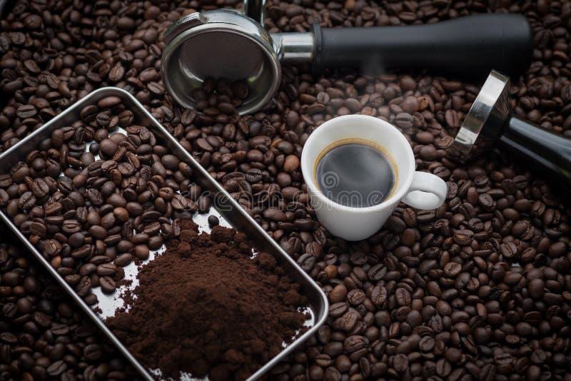 新鲜的浓咖啡杯子 免版税图库摄影