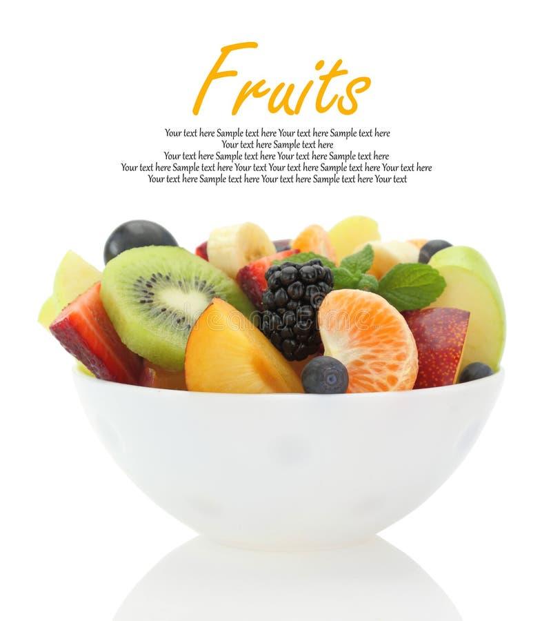 新鲜的混杂的水果沙拉 库存照片