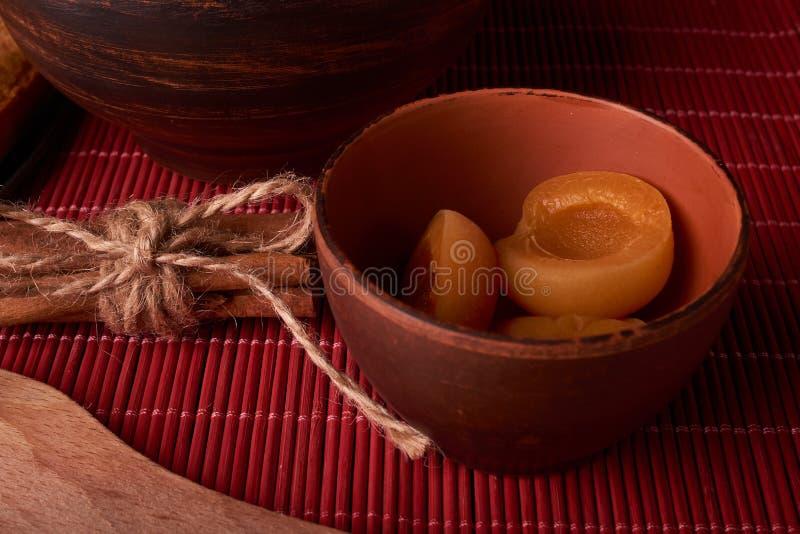 新鲜的烂醉如泥的杏子特写镜头的部分射击了选择聚焦 库存照片