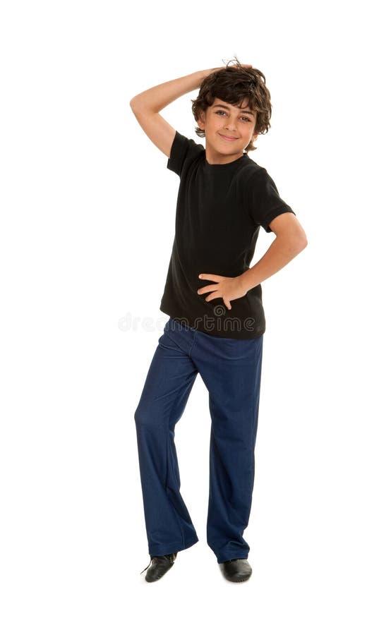 新鲜的爵士乐跳舞男孩 库存照片