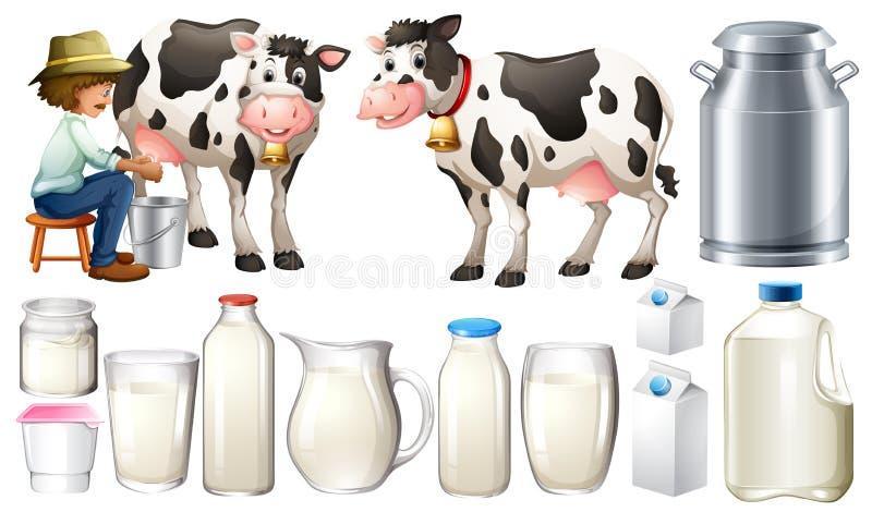 新鲜的牛奶 皇族释放例证
