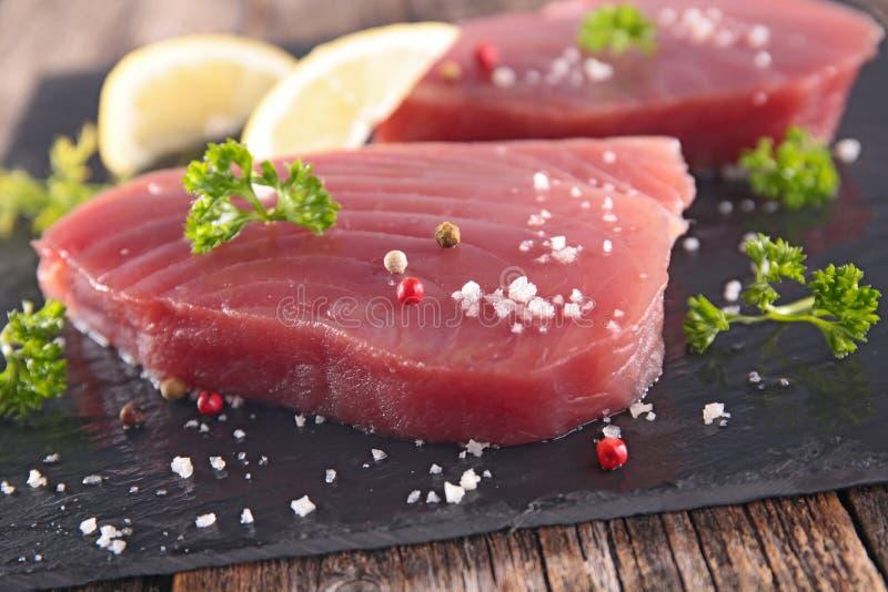 新鲜的牛排金枪鱼 库存图片