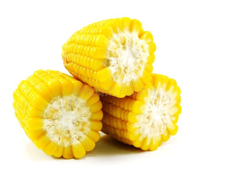 新鲜的甜玉米汁玉米牛奶 免版税图库摄影