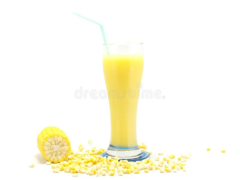 新鲜的甜玉米汁 免版税图库摄影