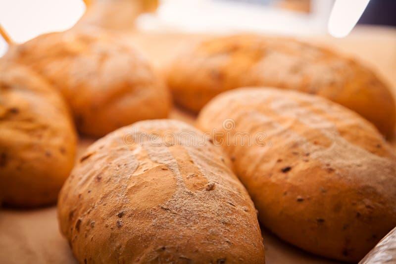 新鲜的白面包 库存图片