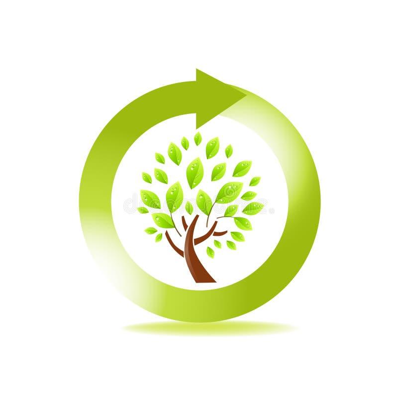 新鲜的符号结构树 皇族释放例证