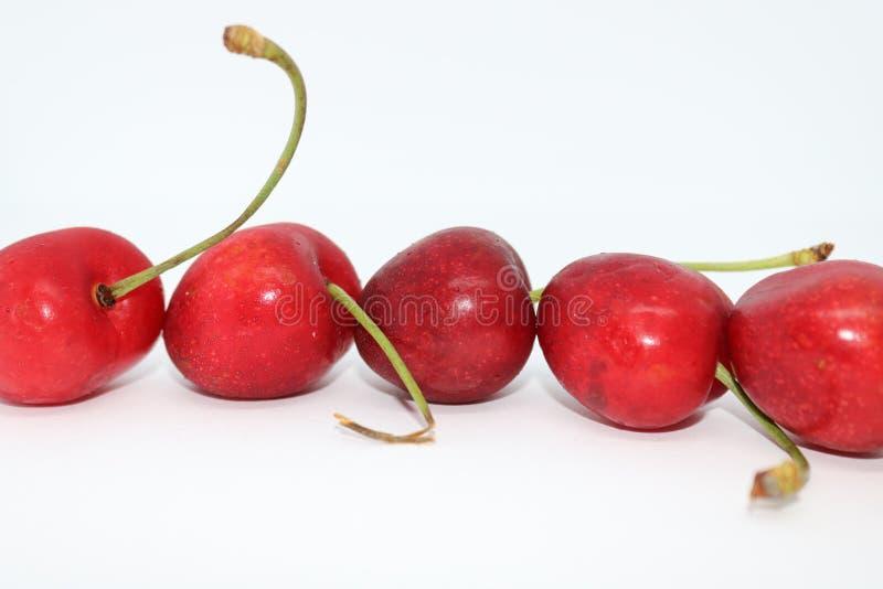 新鲜的红色樱桃的图象 库存图片