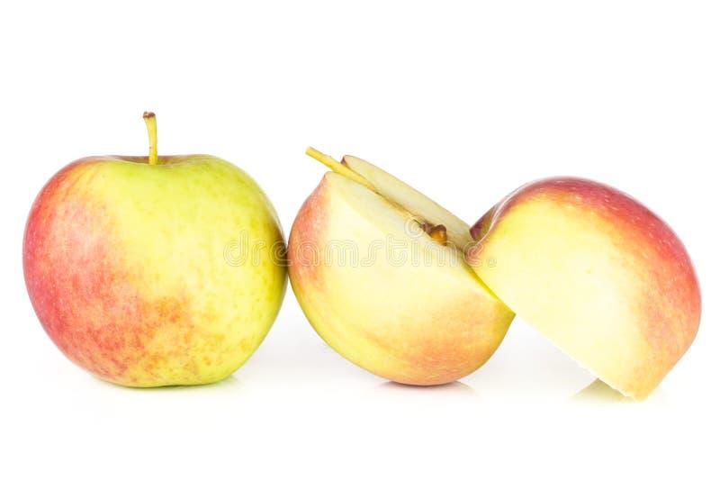 新鲜的红色苹果詹姆斯在白色追悼隔绝 库存图片