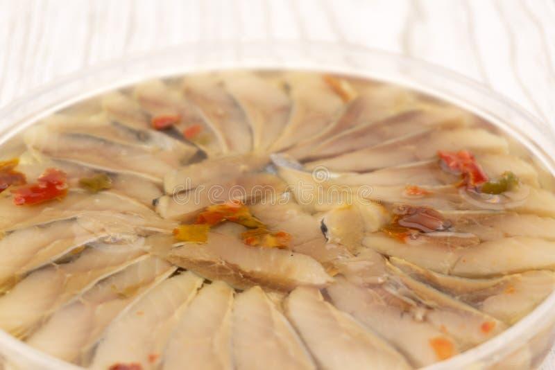 新鲜的红色鱼削减了牛排香料石视图 库存图片