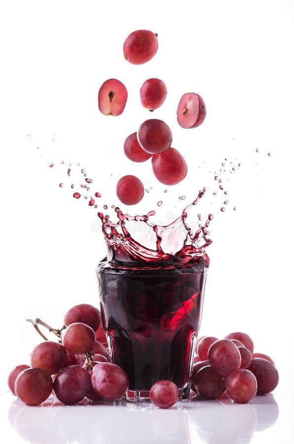 新鲜的红葡萄汁 免版税图库摄影