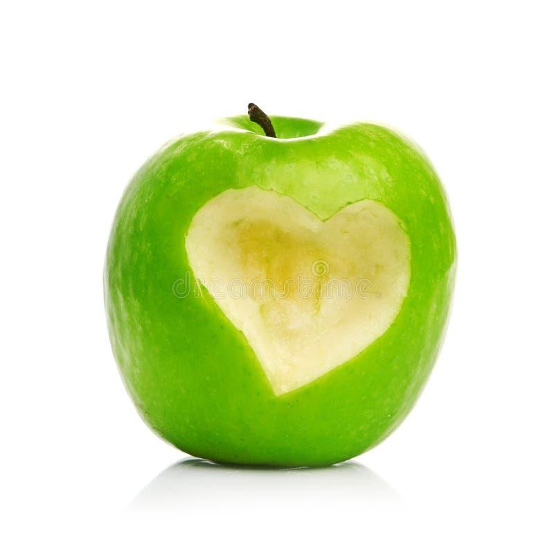 新鲜的绿色苹果 库存照片