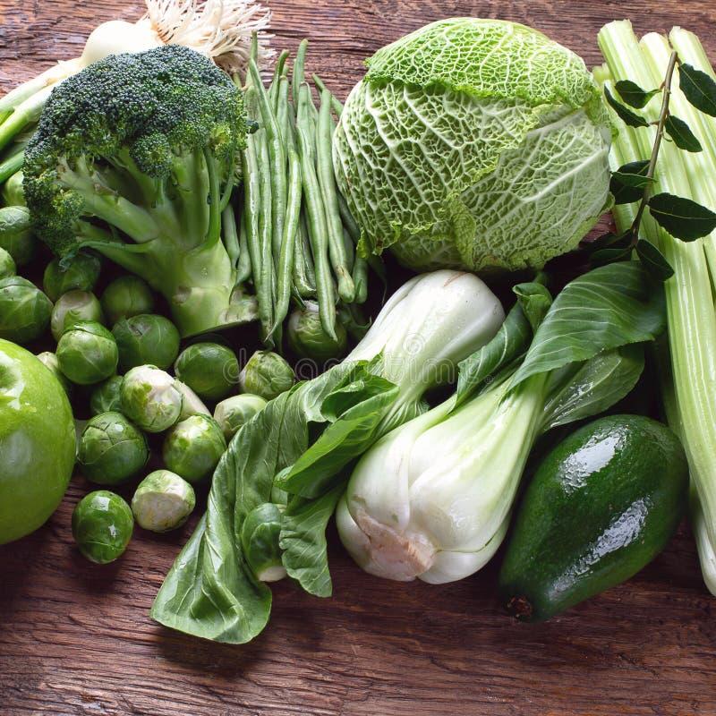 新鲜的绿色蔬菜 库存图片