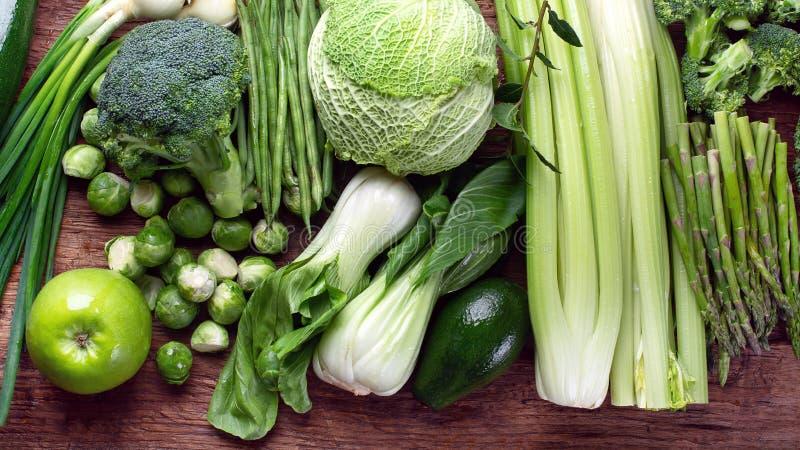 新鲜的绿色蔬菜 免版税库存图片