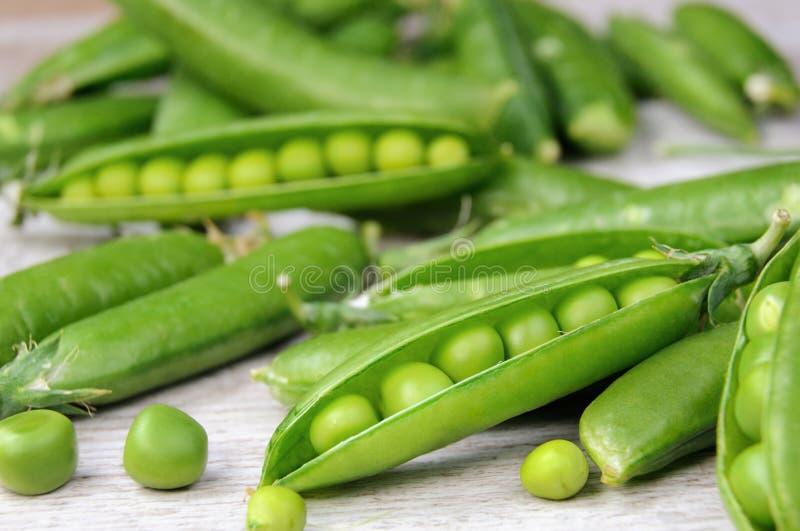 新鲜的绿豆荚 图库摄影