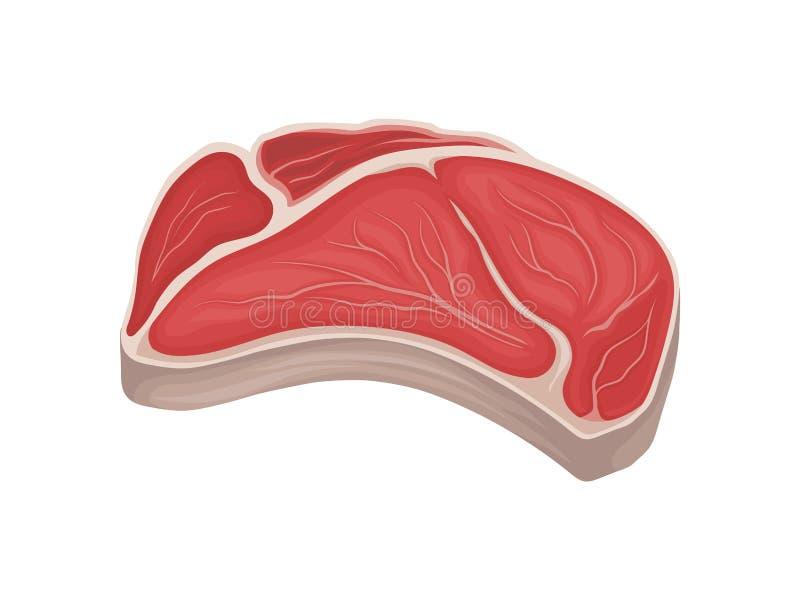 新鲜的肉大片断  r 向量例证