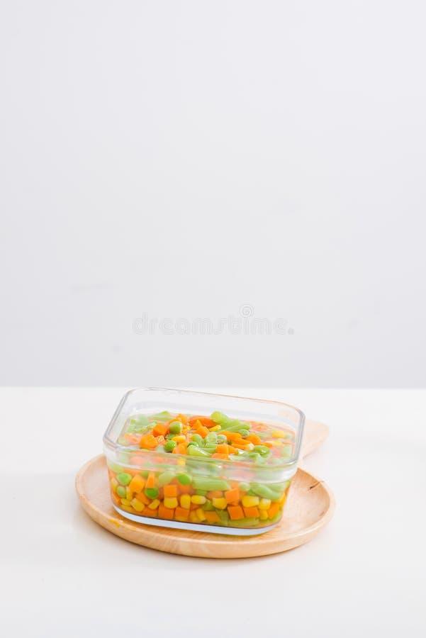 新鲜的自创菜汤 ?? 整个背景 图库摄影