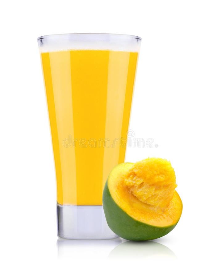 新鲜的芒果汁 库存图片
