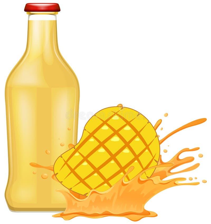 新鲜的芒果用汁液 向量例证