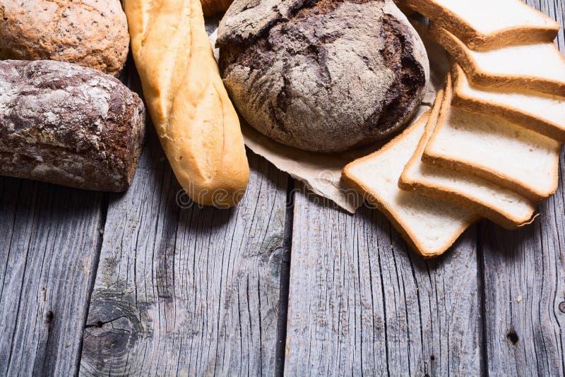 新鲜的芬芳面包 库存图片